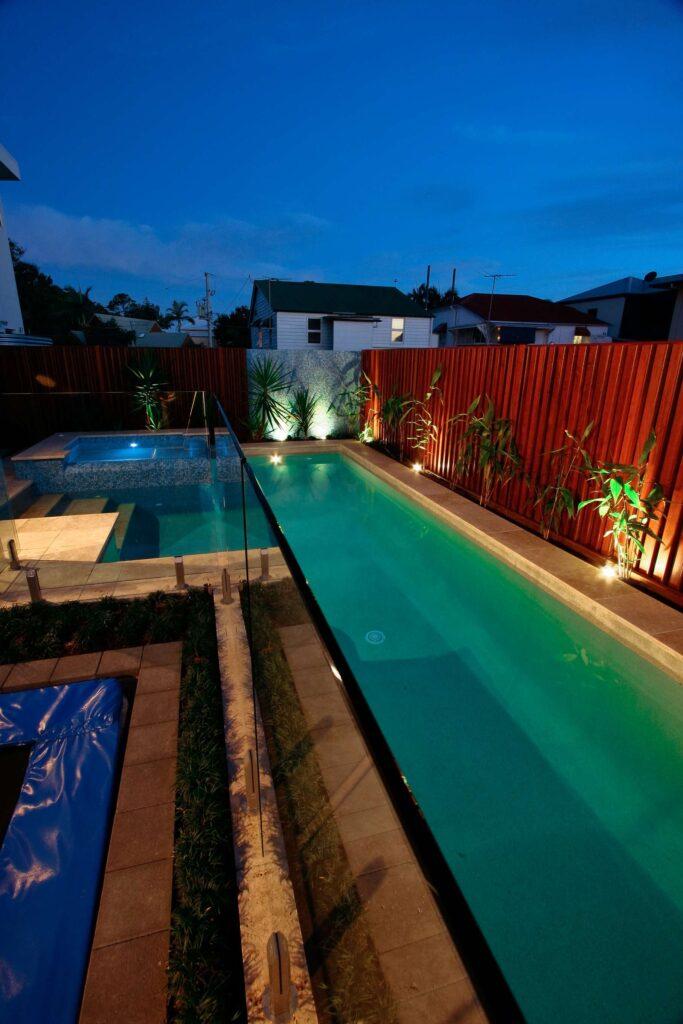 luxury lap pool by local Gold Coast pool builders